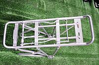 Багажник для велосипеда алюминиевый серый