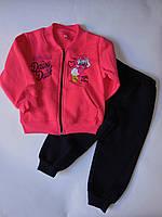 Детский спортивный костюм на флисе для девочек  от 2 до 4 лет