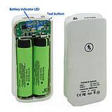 Павербанк USB зарядное устройство 2х18650 1А, фото 5