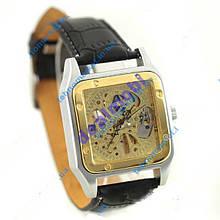 Часы WINNER Skeleton Square Gold II Арт.:849