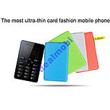 Ультратонкий телефон-кредитка Aeku M5 White РУС, фото 3