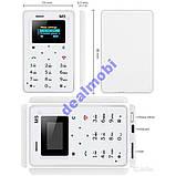 Ультратонкий телефон-кредитка Aeku M5 White РУС, фото 5