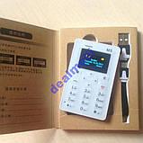 Ультратонкий телефон-кредитка Aeku M5 White РУС, фото 6