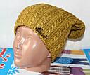 Теплая вязанная шапка  на флисе подросток, фото 9