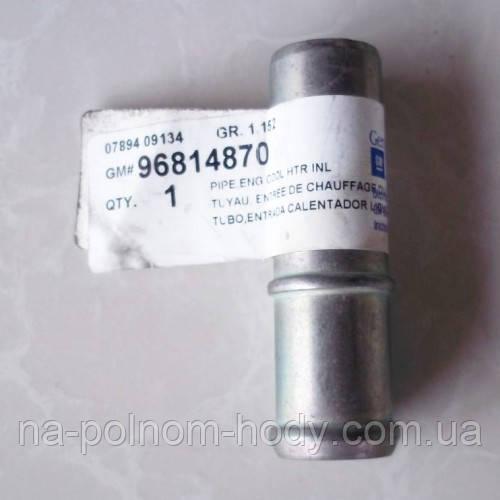 Трубка блока тосольная метал под запресовку (D=20мм) Авео Ланос Лачетти 1.6 GM