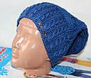 Теплая вязанная шапка  на флисе подросток, фото 10