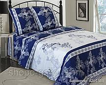 Полуторный бязевий комплект постельного белья, 136 г/м2, 4255 Баронеса