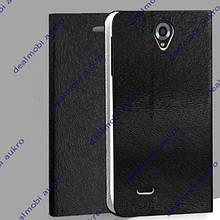 Чехол книжка для Lenovo A850  чёрный
