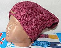 шапка  крупная вязка  подросток