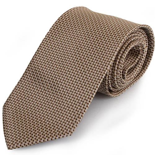Универсальный мужской широкий галстук SCHONAU & HOUCKEN (ШЕНАУ & ХОЙКЕН) FAREPS-17 бежевый