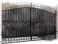 """Ворота кованые с установкой. Ручная ковка. Покраска Польской краской """"Снежка"""". Гарантия на все виды работ."""