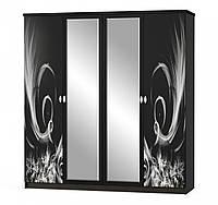Шкаф 4Д Ева NEW (Мебель-Сервис)  2014х584х2141мм венге