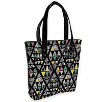 Черная женская сумка Bigbag с принтом Этно мотивы