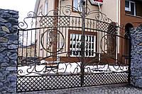 """Прозрачные кованые ворота (можно с автоматикой). Ручная ковка. Покраска супер качественной эмалью """"Hammerite"""""""