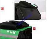 Велосумка сумка велосипедная багажник 3 цвета, фото 6
