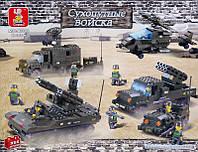 Конструктор Sluban M38-B7000 «Транспорт» серия «Сухопутные войска», 956 деталей, 49х38х7 см