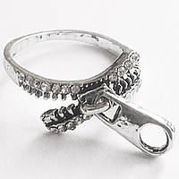 """Кольцо """"Замок"""". Ювелирная бижутерия, кристаллы. Размеры 16, 17, 18."""