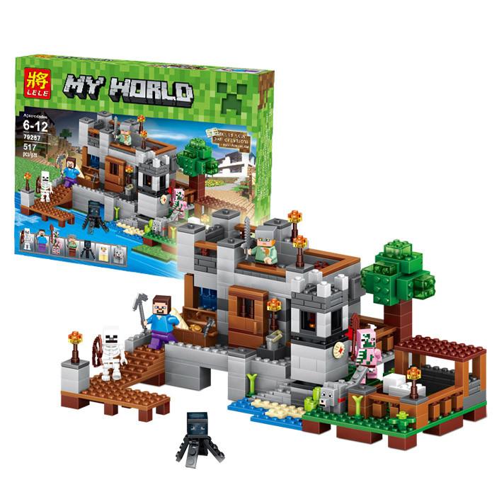 Конструктор LELE 79287 Береговая цитадель (аналог Lego Майнкрафт, Minecraft), 517 дет