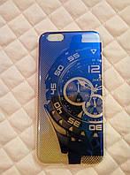 Чехол силиконовый для iPhone 6/6s, прозрачный с перламутром