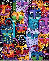 """KGX 9372 """"Сорок кошек""""  Роспись по номерам на холсте 40х50см"""