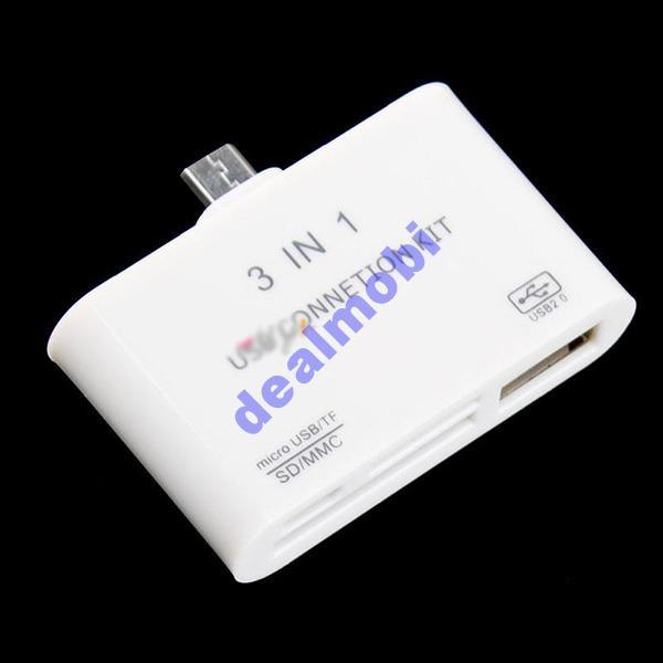 Mikro USB OTG Картридер Card Reader SD, MMC, TF