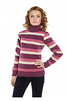 """Теплый вязанный свитер """"Радуга"""" для девочки, цвет клевер"""