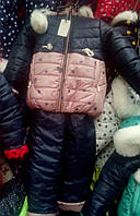 Зимний комбинезон для девочки на овчине