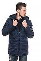 Мужская удлиненная зимняя куртка с капюшоном