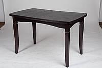 Стол обеденный раскладной  из дубового шпона  Леон, венге