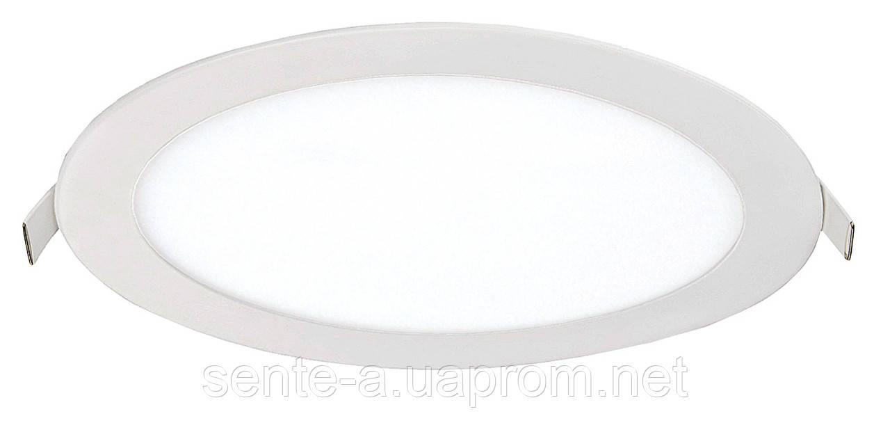 Светодиодный врезной светильник 39190 LED-R-300-24 24W 4200К круглый белый IP20 Евросвет