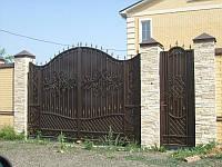 """Кованые ворота с калиткой. Ручная ковка. Воэможно доставка и установка. Покраска качественной эмалью """"Alpina"""""""