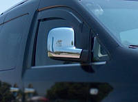 Накладки на зеркала (2 шт) - Volkswagen Caddy (2004-2010) хромированный пластик