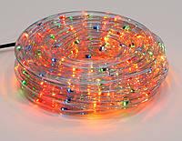 Гирлянда Дюралайт 6м, 30 лампочек/ 1м (разноцветные), прозрачная трубка, режим постоянного свечения. Для внутр