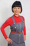 Сарафан джинсовый  для девочки с замшевым ремешком , Пл 093., фото 2