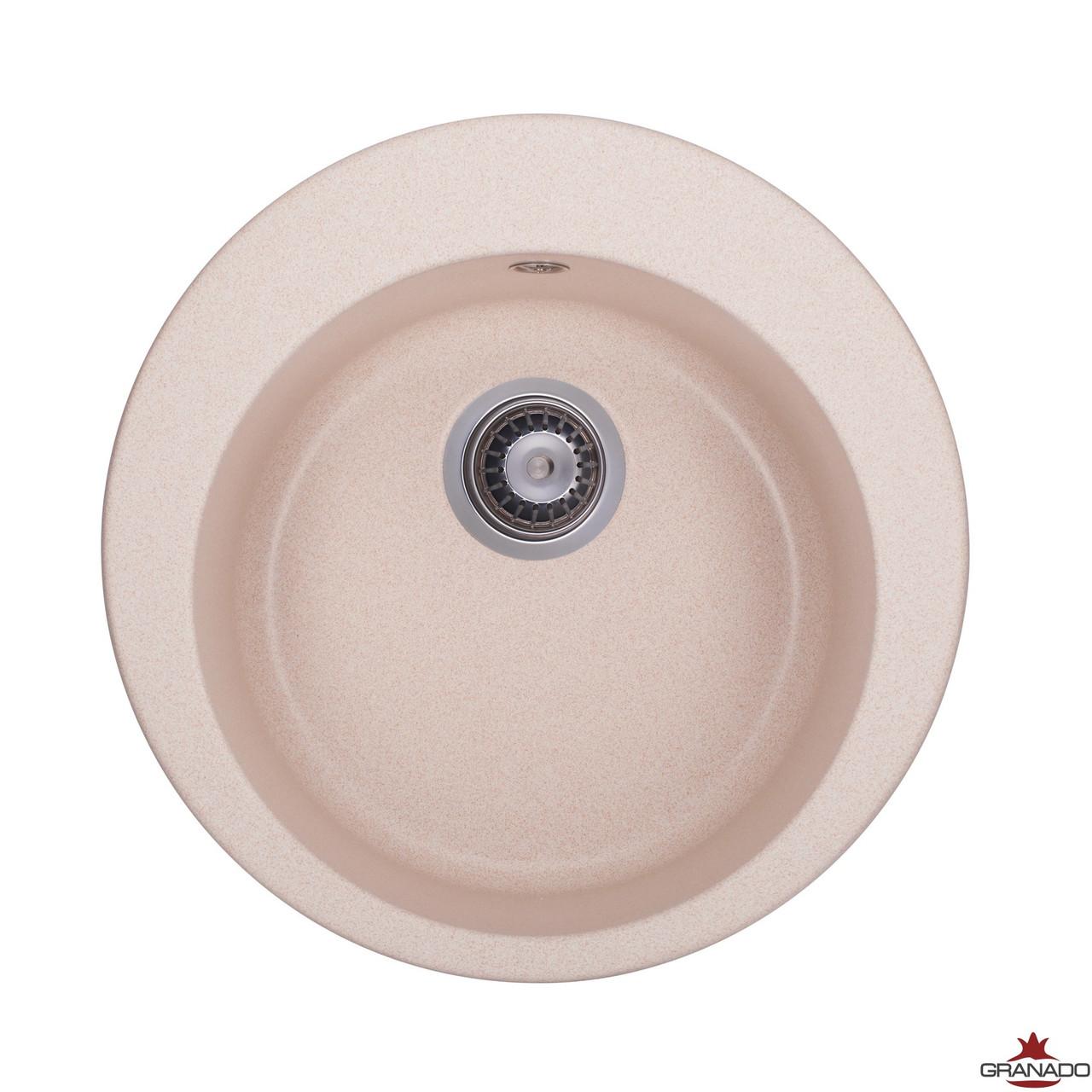 Кухонная мойка из гранита круглой формы от производителя Granado Vitoria цвет - Avena