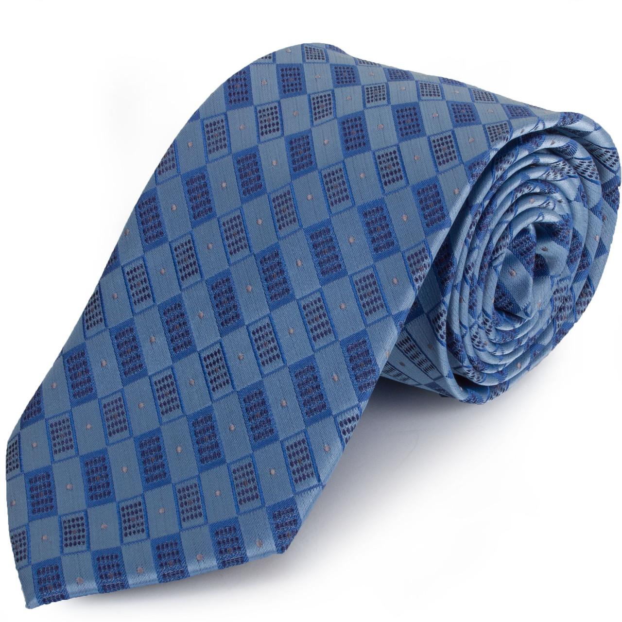 Універсальний чоловічий широкий галстук SCHONAU & HOUCKEN (ШЕНАУ & ХОЙКЕН) FAREPS-20 синій
