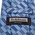 Універсальний чоловічий широкий галстук SCHONAU & HOUCKEN (ШЕНАУ & ХОЙКЕН) FAREPS-20 синій, фото 3