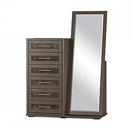 Комод + зеркало Токио 6Ш Мебель-сервис