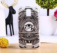Эксклюзивный чехол бампер для Huawei Y3 с рисунком Масонский глаз