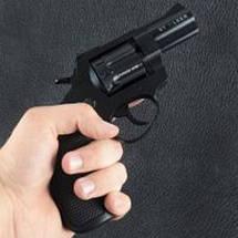 """Револьверы Stalker под 4мм патрон Флобера. Револьвер Stalker 2.5"""" чёрный матовый / чёрная рукоять, фото 3"""