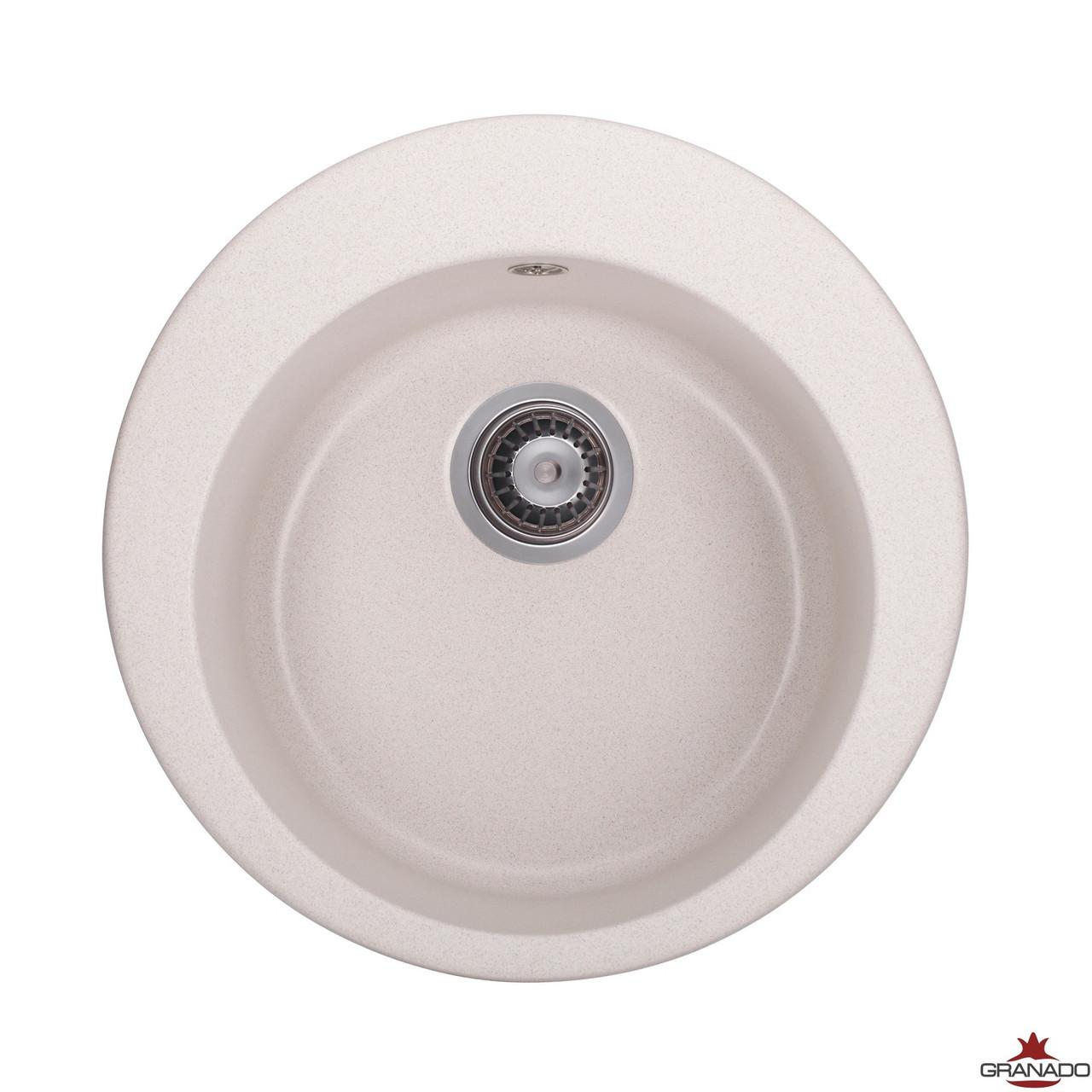 Мойка Vitoria цвет - Terra из гранита круглой формы в кухню от производителя Granado