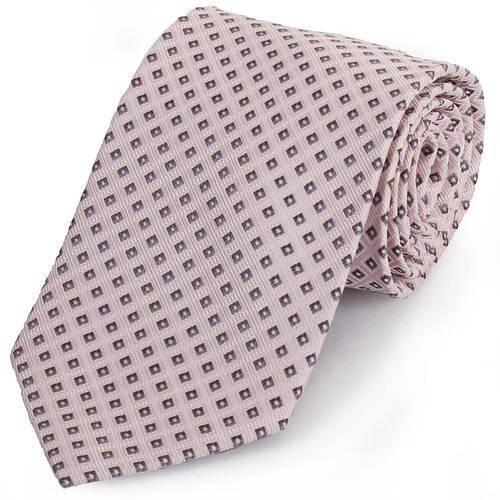 Красивый мужской широкий галстук SCHONAU & HOUCKEN (ШЕНАУ & ХОЙКЕН) FAREPS-22 бежевый