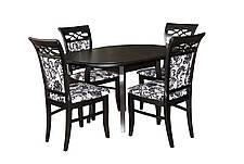 Стол обеденный круглый  раскладной   ЭЛИС   Fusion Furniture, цвет  венге     (эмаль черная), фото 3