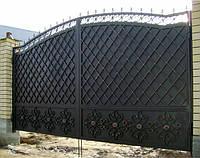 """Кованые ворота с установкой. Покраска с гарантией супер эмалью """"Alpina"""". Возможно с калиткой."""