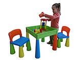 Комплект дитячих меблів Tega Baby Mamut стіл + 2 стільці (оранжевий із зеленим), фото 7