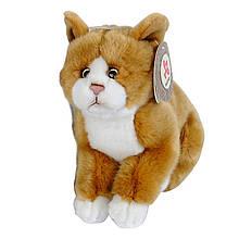 Мягкая игрушка «Nicotoy» (5830214) плюшевый сидящий котёнок, 23 см (рыжий с белой грудкой и лапками)