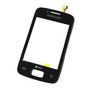Тачскрин сенсор Samsung S6102 Galaxy Y Duos черный (проклейка)