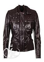 Коричневая кожаная куртка 3 в 1 (размер S)