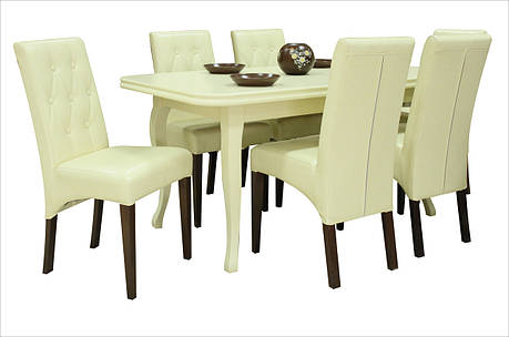 Стіл обідній розкладний Прем'єр Fusion Furniture, колір беж, фото 2