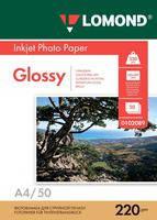 Фотобумага Lomond глянцевая / глянцевая ( формат А4 плотность 220 г/м2 двухсторонняя глянцевая ) 50 листов